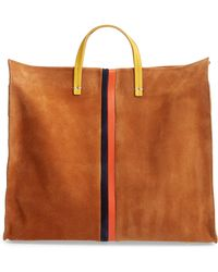 Clare V. - Simple Leather Tote - Lyst