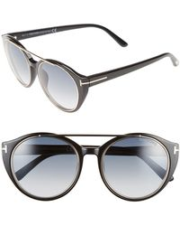 33deb84768837 Lyst - Tom Ford Ft0383 s 56b Joan Round Sunglasses