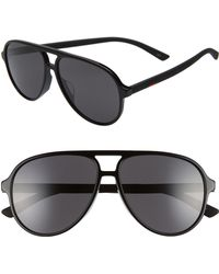 3eae302050 Lyst - Gucci  1065s  59mm Polarized Aviator Sunglasses in Black for Men