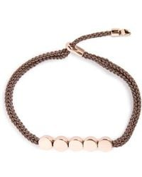 Monica Vinader - Engravable Linear Bead Friendship Bracelet - Lyst