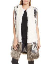 Heurueh - Julie Patchwork Faux Fur Vest - Lyst