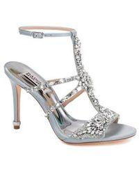 Badgley Mischka - Hughes Crystal Embellished Sandal - Lyst