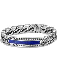 David Yurman - Maritime Collection Lapiz Lazuli Sterling Silver Bracelet - Lyst