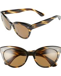 b34a06fa3307 Oliver Peoples - Roella 55mm Polarized Cat Eye Sunglasses - Lyst