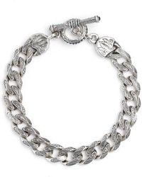 Konstantino - Silver Classics Etched Link Bracelet - Lyst