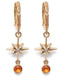 Marlo Laz - Lucky Star Diamond & Sapphire Earrings - Lyst