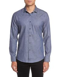Vince Camuto | Slim Fit Print Sport Shirt | Lyst