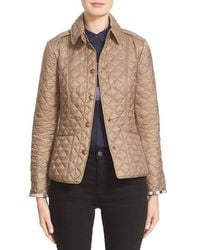 Burberry Brit - 'kencott' Patch Pocket Quilted Coat - Lyst