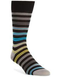 Bugatchi - Stripe Mercerized Cotton Blend Socks - Lyst
