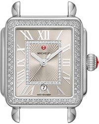 Michele - Deco Madison Diamond Dial Watch Case - Lyst