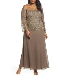 Pisarro Nights | Embellished Off The Shoulder Gown | Lyst