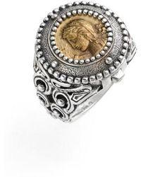 Konstantino | 'arethusa' Hinged Coin Ring | Lyst