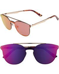 Web - 55mm Cat Eye Metal Shield Sunglasses - Bronze Gradient - Lyst