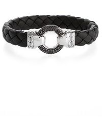 John Hardy - Classic Chain Ring Clasp Leather Bracelet - Lyst