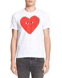 Play Comme des Garçons - Graphic T-shirt - Lyst
