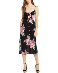 Mimi Chica - Button Front Keyhole Dress - Lyst