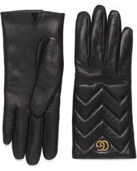 Gucci - Gg Marmont Cashmere Lined Leather Gloves - Lyst
