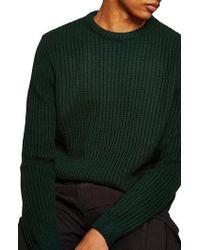 TOPMAN - English Knit Crewneck Sweater - Lyst