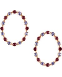 Marlo Laz - Full Circle Stone Stud Earrings - Lyst