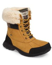UGG - Ugg Butte Plaid Waterproof Boot - Lyst