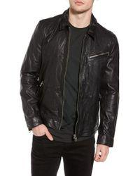 Scotch & Soda   Lightweight Washed Leather Jacket   Lyst