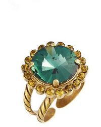 Sorrelli - Haute Halo Crystal Cocktail Ring - Lyst