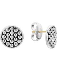 Lagos - Signature Caviar Button Omega Post Earrings - Lyst