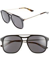 6ec6fb9d713 Lyst - Gucci Gg 2252 s 4uyic Light Steel Aviator Men s Sunglasses in ...