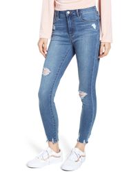 Articles of Society - Heather High Waist Distressed Skinny Jeans - Lyst