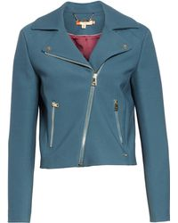 b73eb4c61 Lyst - Ted Baker Colour By Numbers Bomber Jacket in Pink