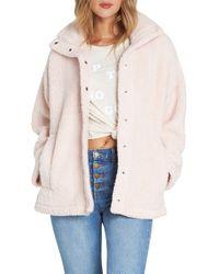 Billabong - Cozy Days Faux Fur Jacket - Lyst