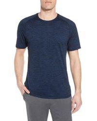 Zella - Stripe Crewneck T-shirt - Lyst