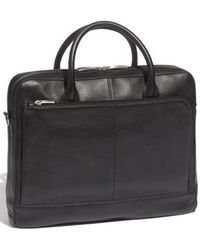 Bosca - Slim Leather Briefcase - Lyst