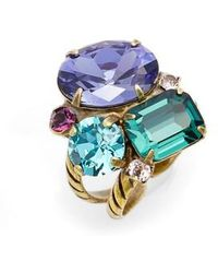 Sorrelli | Crystal Cluster Cocktail Ring | Lyst