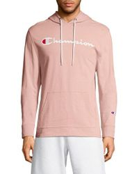 Champion - Embroidered Logo Hoodie - Lyst