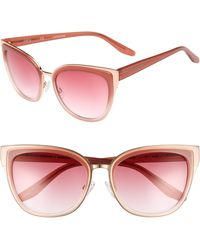 Chelsea28 - Lillian 56mm Sunglasses - Milky Pink- Rose Gold - Lyst