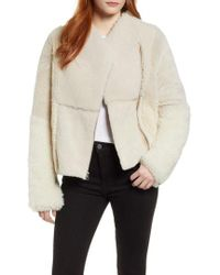 Cole Haan - Patchwork Genuine Shearling Jacket - Lyst