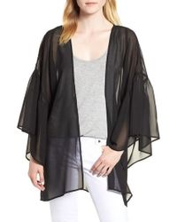 Nordstrom - Solid Ruffle Sleeve Kimono - Lyst