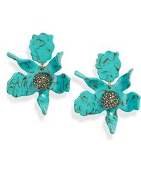 Lele Sadoughi - Crystal Lily Clip-on Earrings - Lyst