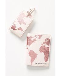 Anthropologie - Luggage Tag & Passport Cover Set - Lyst
