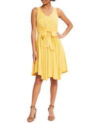 ModCloth - Sleeveless Pleated Tank Dress - Lyst