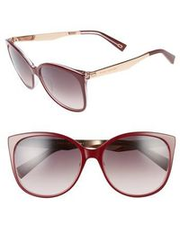 8ec9a4821eb Marc Jacobs - 56mm Gradient Lens Butterfly Sunglasses - Opal  Burgundy -  Lyst