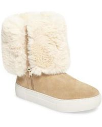 J/Slides - Apple Faux Shearling Boot - Lyst