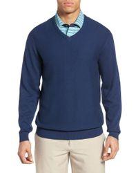 Bobby Jones - Pique Jersey V-neck Sweater - Lyst