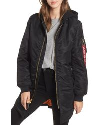 Alpha Industries - Ma-1 Natus Long Hooded Jacket - Lyst