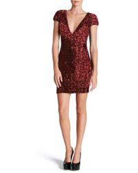 Dress the Population | Zoe Sequin Minidress | Lyst