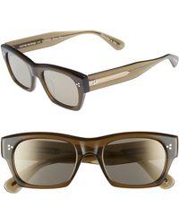 Oliver Peoples - Isba 51mm Sunglasses - Dark Military - Lyst