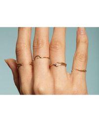 Wwake - Triangle Lineage Black Diamond Ring - Lyst