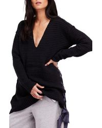 Free People - Heart It Laces Sweater - Lyst