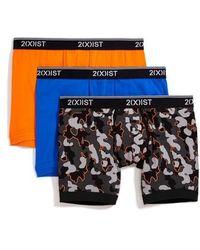 2xist - 3-pack Stretch Boxer Briefs, Orange - Lyst